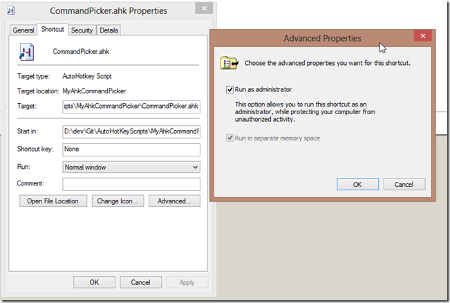 AutoHotkey cannot interact with Windows 8…or can it
